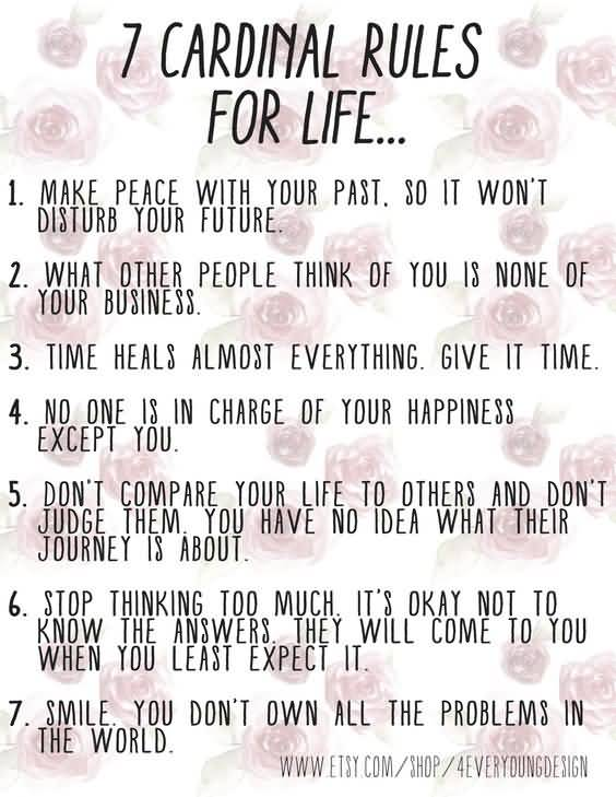 60 Rules Of Life Quote 60 QuotesBae Awesome 7 Rules Of Life Quote