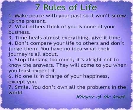 7 Rules Of Life Quote 16