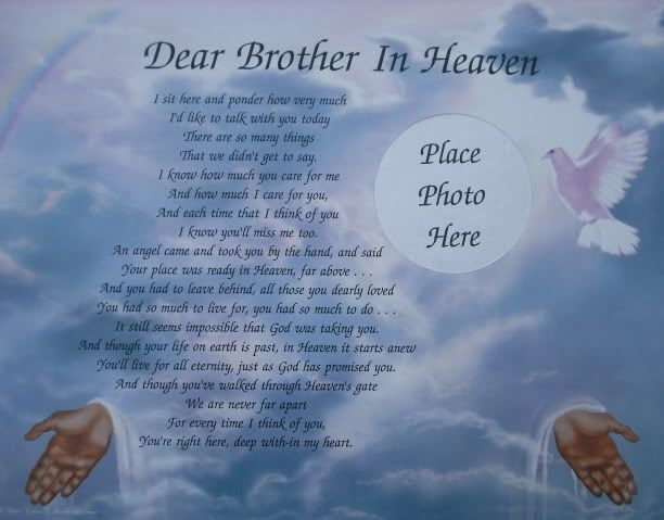 Birthday Quotes For Brother In Heaven Meme Image 05