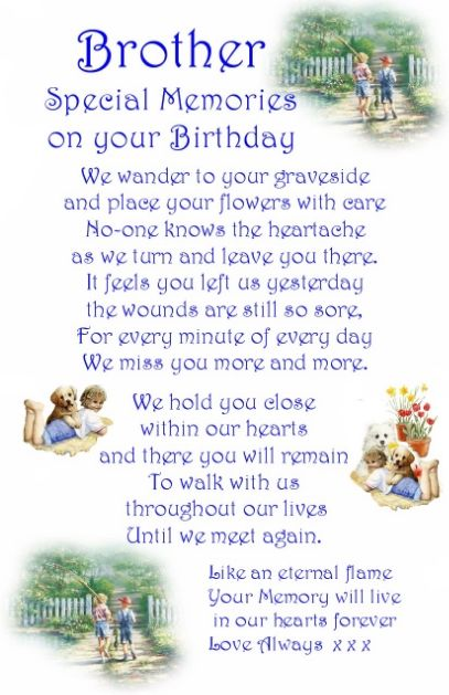 Birthday Quotes For Brother In Heaven Meme Image 07