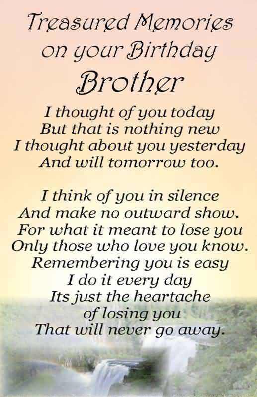 Birthday Quotes For Brother In Heaven Meme Image 10