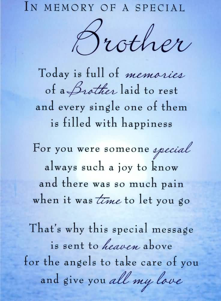Birthday Quotes For Brother In Heaven Meme Image 16