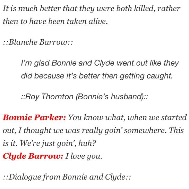 Bonnie and Clyde Quotes Meme Image 14