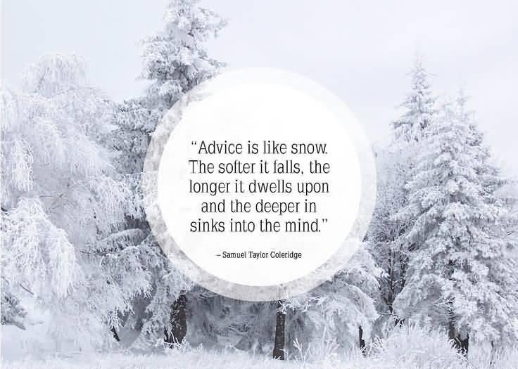Cute Snow Quotes Meme Image 14