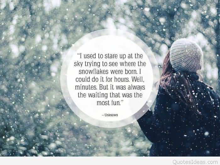 Cute Snow Quotes Meme Image 16