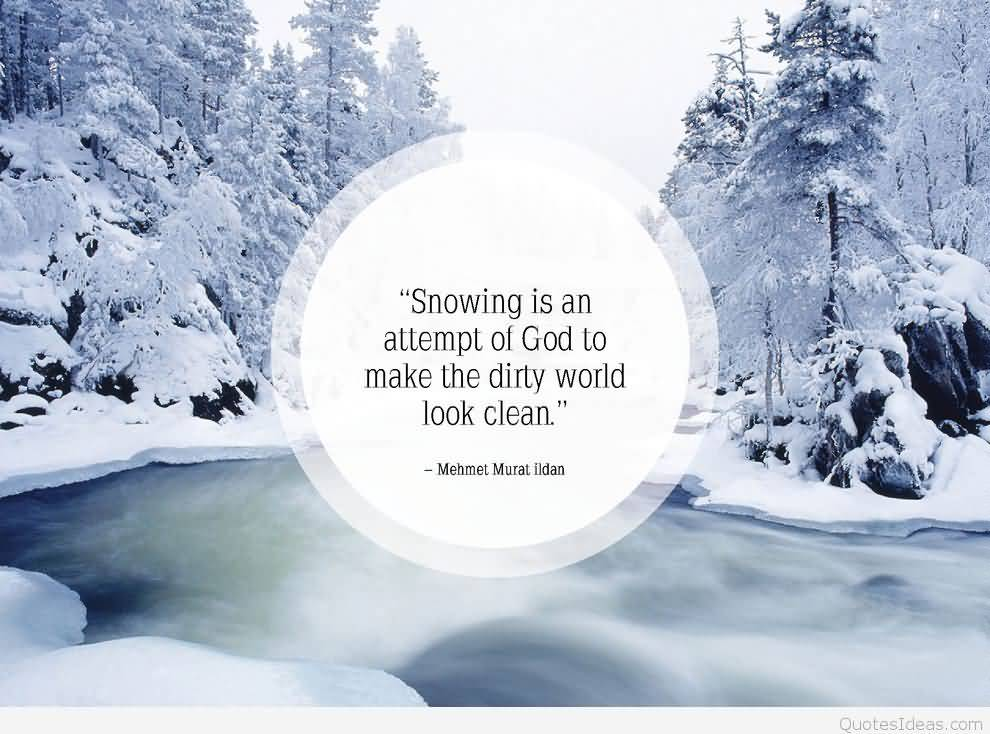 Cute Snow Quotes Meme Image 19