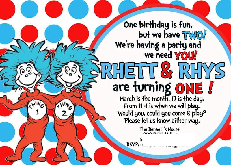 Dr Seuss Thing 1 And Thing 2 Quotes Meme Image 11 Quotesbae