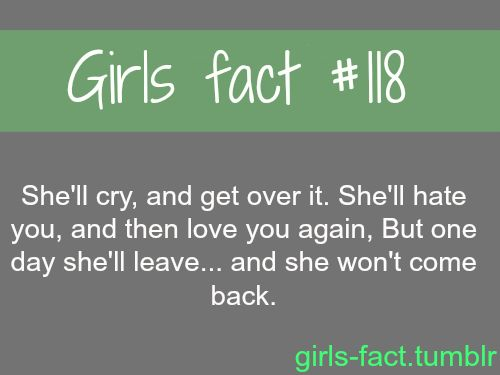 Facts About Girls Quotes Meme Image 04