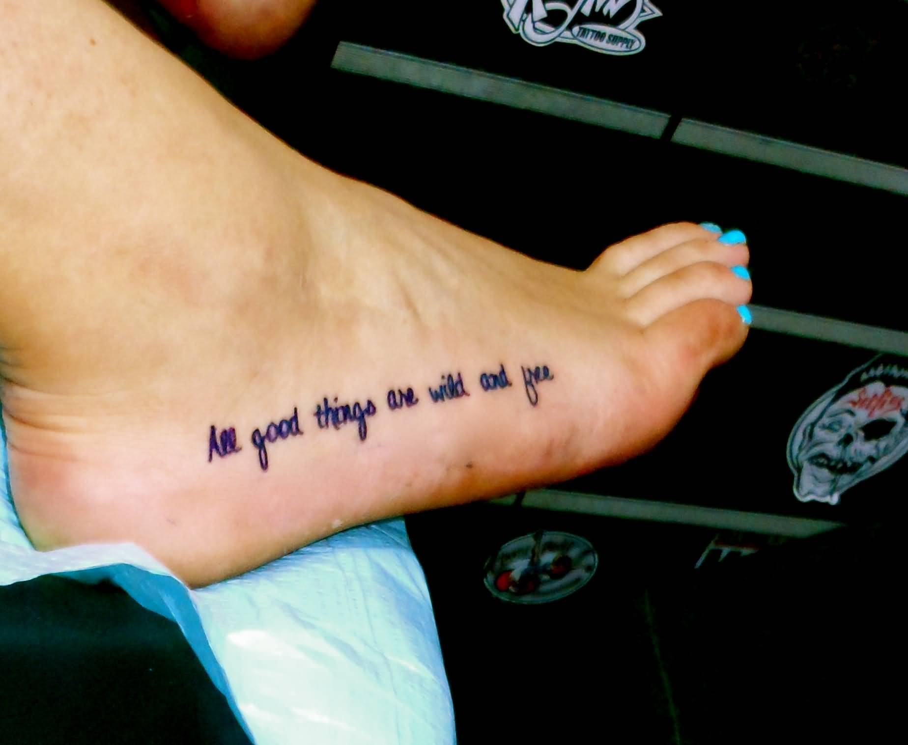 25 good quotes for foot tattoos and sayings quotesbae for Free tattoos nyc 2017