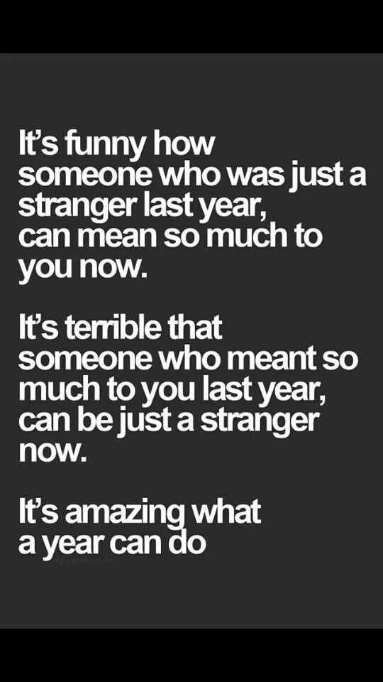 Truth about growing apart
