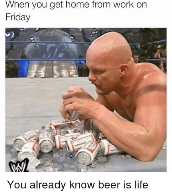 Amazing friday beer meme graphics