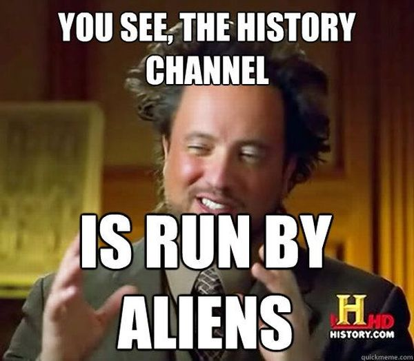 Ancient aliens meme photo