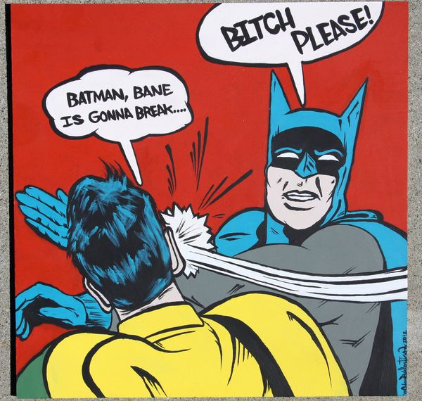 Batman Slapping Robin Original Photo