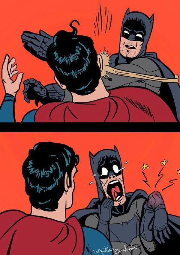 Batman Slaps Superman Humor Images