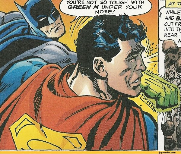 Batman Slaps Superman Humor Photo