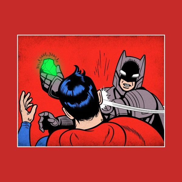 Batman Slaps Superman Humor Pictures
