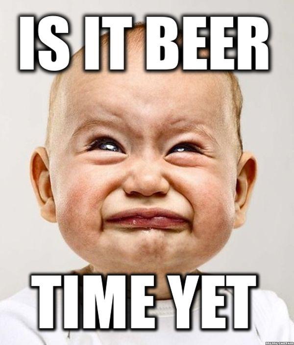 Beer time meme image