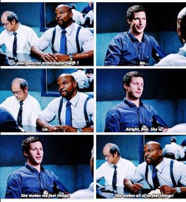 Brooklyn 99 terry catches jake meme photo