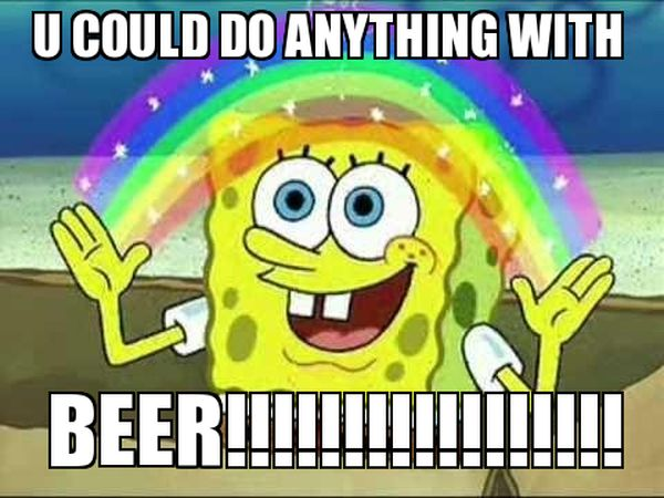 Common beer time meme image