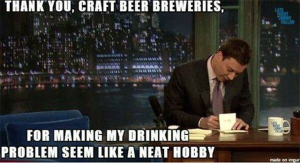 Common craft beer meme joke