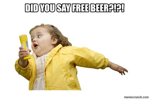 Common free beer meme jokes