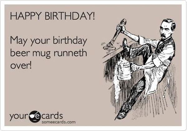 Cool funny happy birthday beer meme joke