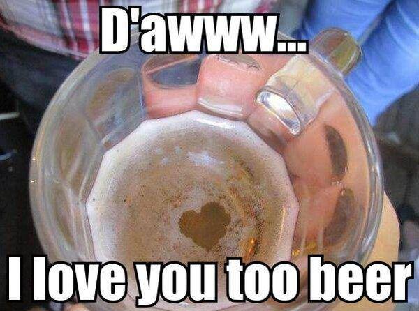 Cool i love beer meme joke