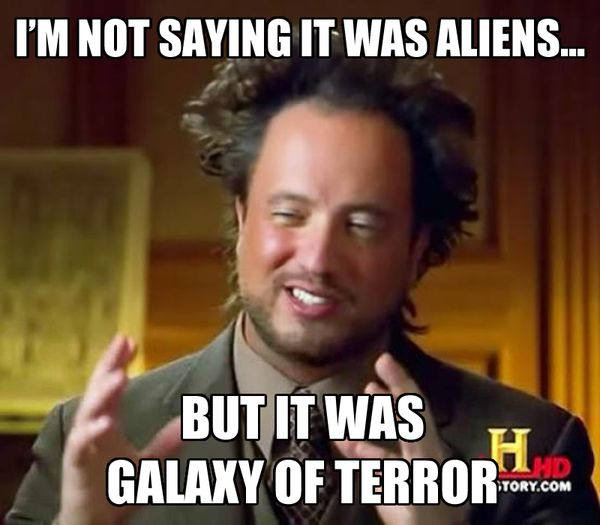 Cool it was aliens meme photo