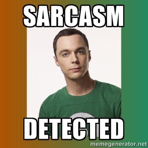 Cool sheldon sarcasm meme pictures