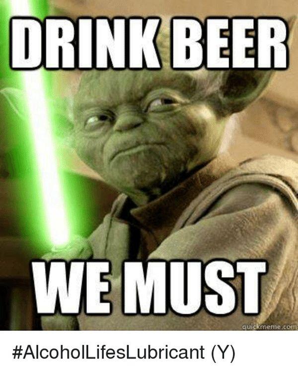 Drinking beer meme photo