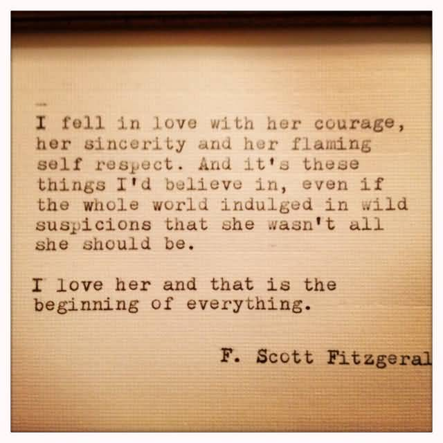 F Scott Fitzgerald Love Quote 10