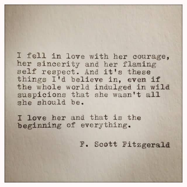 F Scott Fitzgerald Love Quote 16