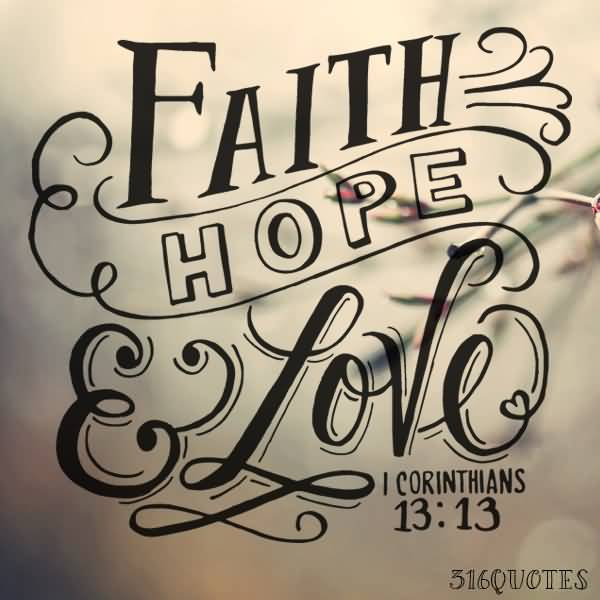 Faith Love Hope Quotes 60 QuotesBae Beauteous Faith Love Hope Quotes