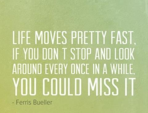Ferris Bueller Life Moves Pretty Fast Quote 12