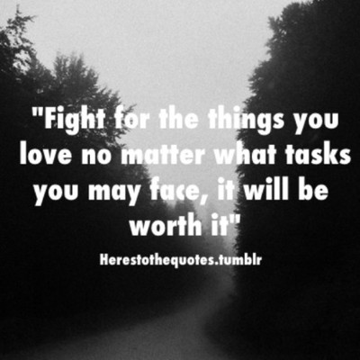 Fight For What You Love Quotes 14