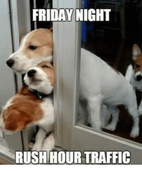 Friday Night Rush Hour Traffic