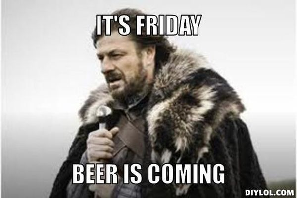 Friday beer meme picture