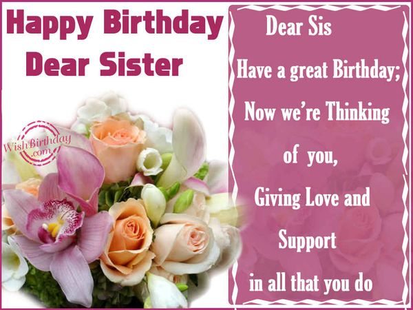 Funny birthday message for sister meme