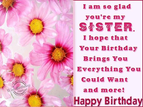 Funny birthday message for sister picture