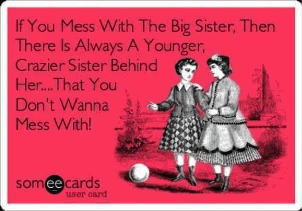 Funny little sister birthday sayings joke