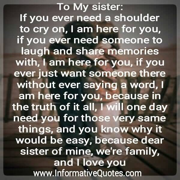 20 I Love My Sister Quotes Sayings & Images