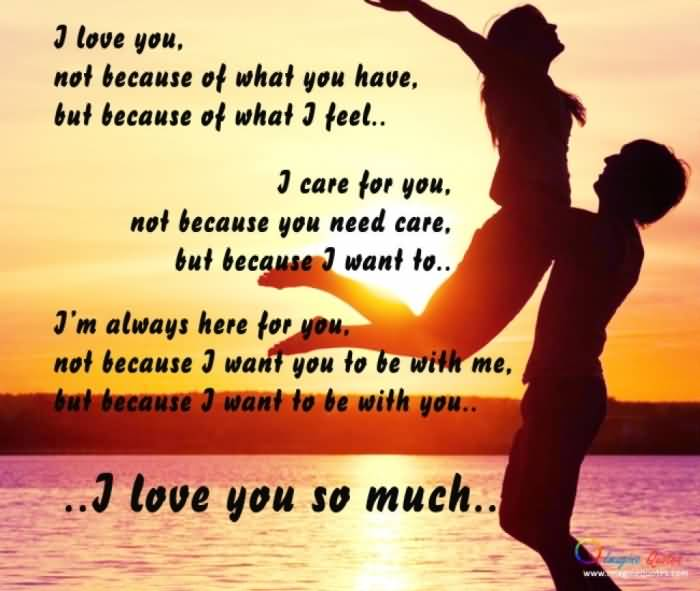 So i for him love u much quotes I Love