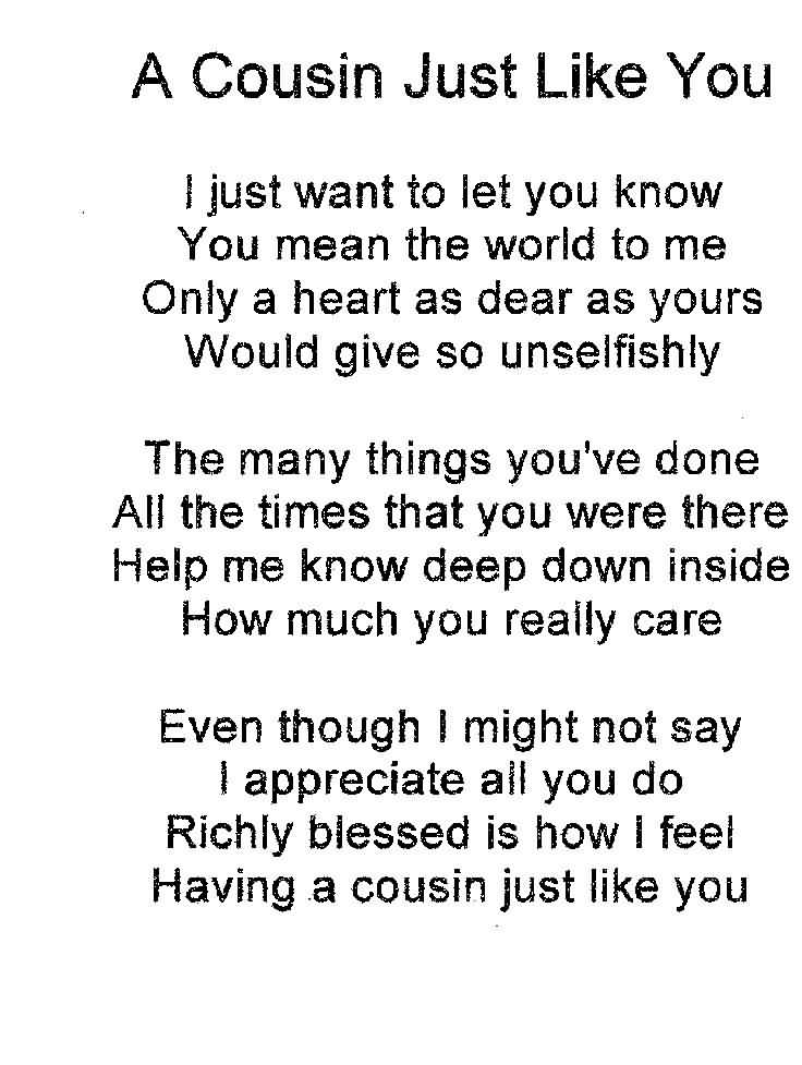 I Love You Cousin Quotes 14