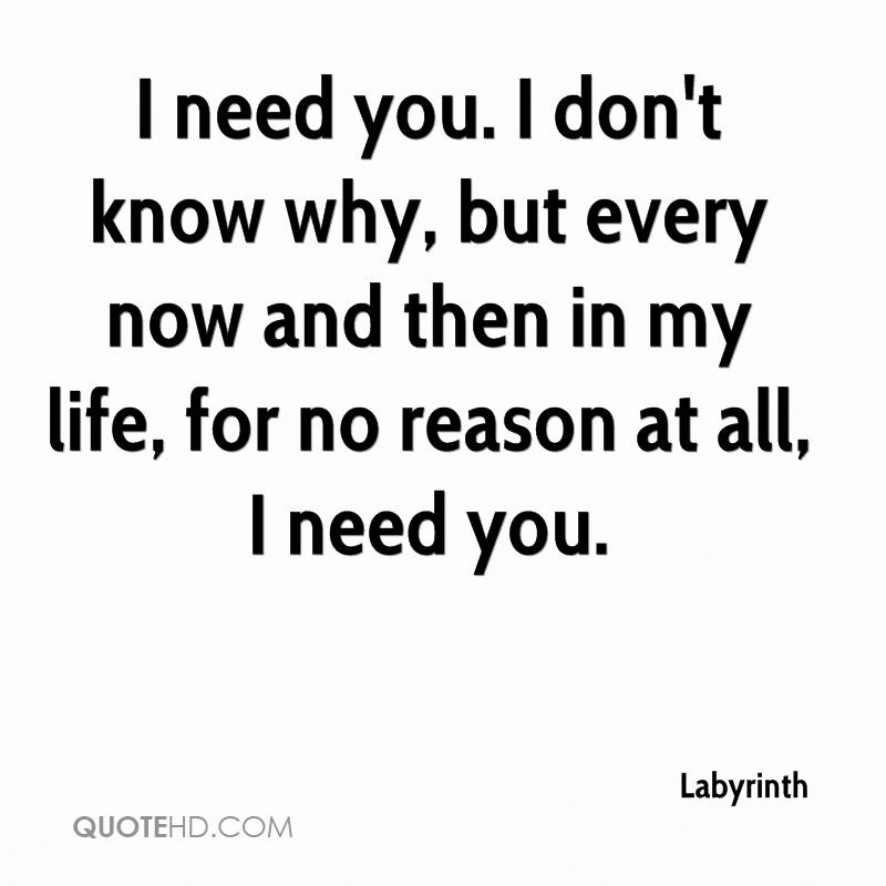 I Need You In My Life Quotes 13