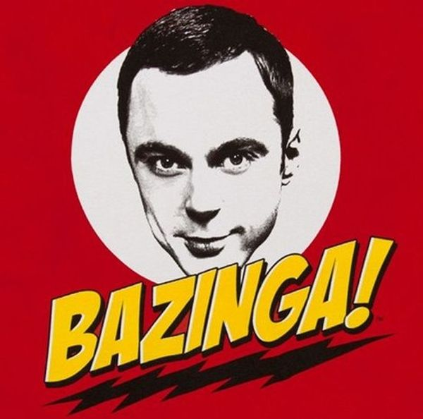 Sheldon cooper bazinga meme
