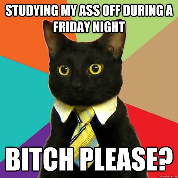 Studying My Ass Off During A Friday Night Bitch Please