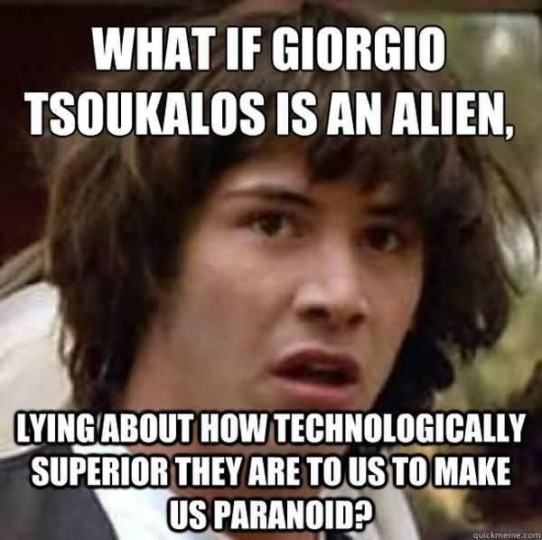 Super giorgio tsoukalos aliens meme image