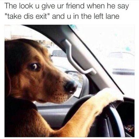 The Look U Give Ur Friend When He Say Take Dis Exit And U In The Left Lane Friday Night Meme