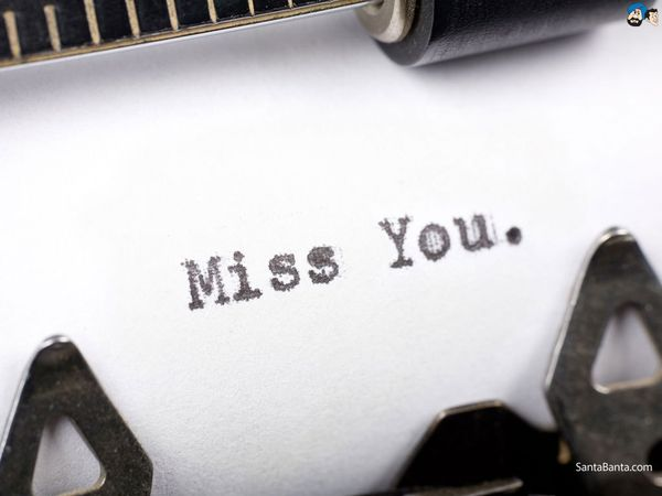 Amusing typed miss you meme photo
