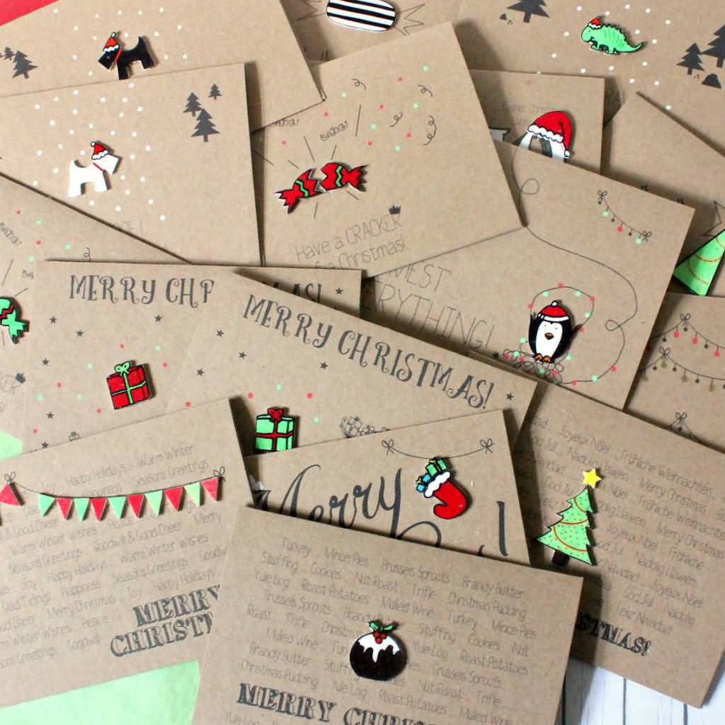 Christmas Cards Handmade Image Picture Photo Wallpaper 11